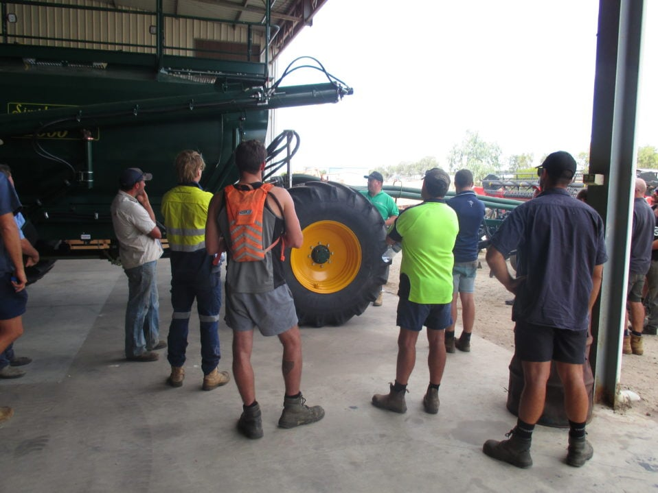 15 farmers arrive for the Simplicity owners day in Northam