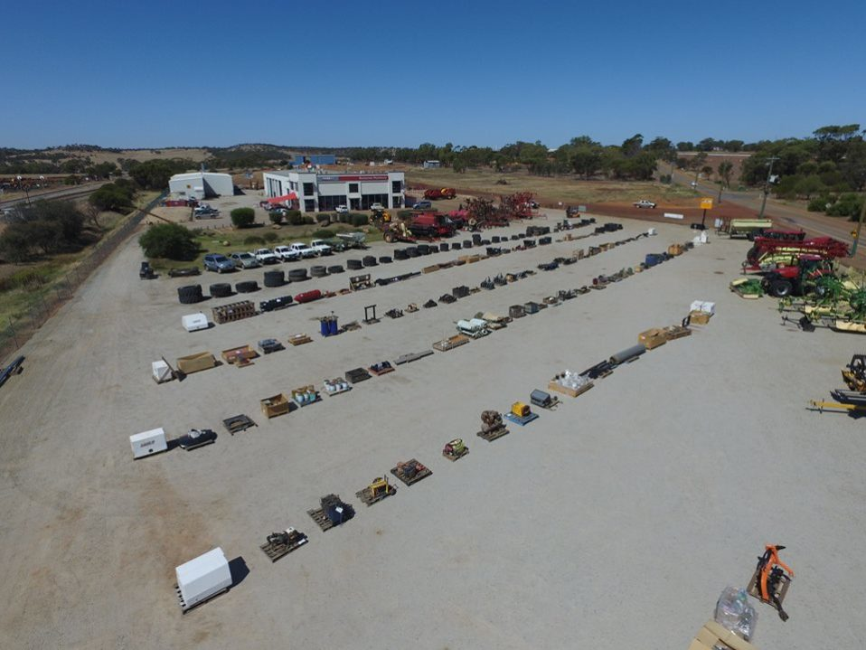 Boekeman Machinery surplus sale drone shot