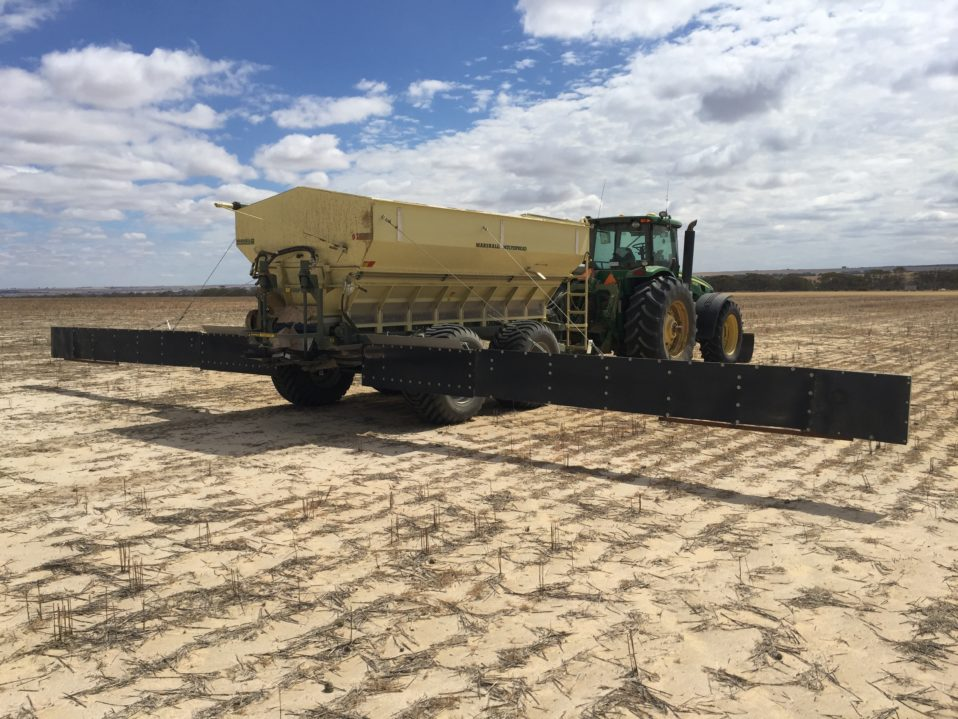 Marshall Multispreader Curtain Trials with Lime & Gypsum
