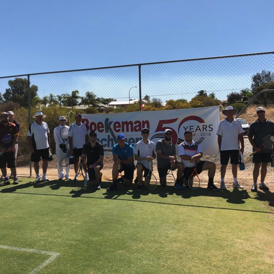 Northam lawn tennis club players on Men's Open Day