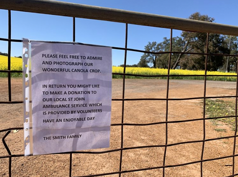 Signage posted by the Smith family on their fences