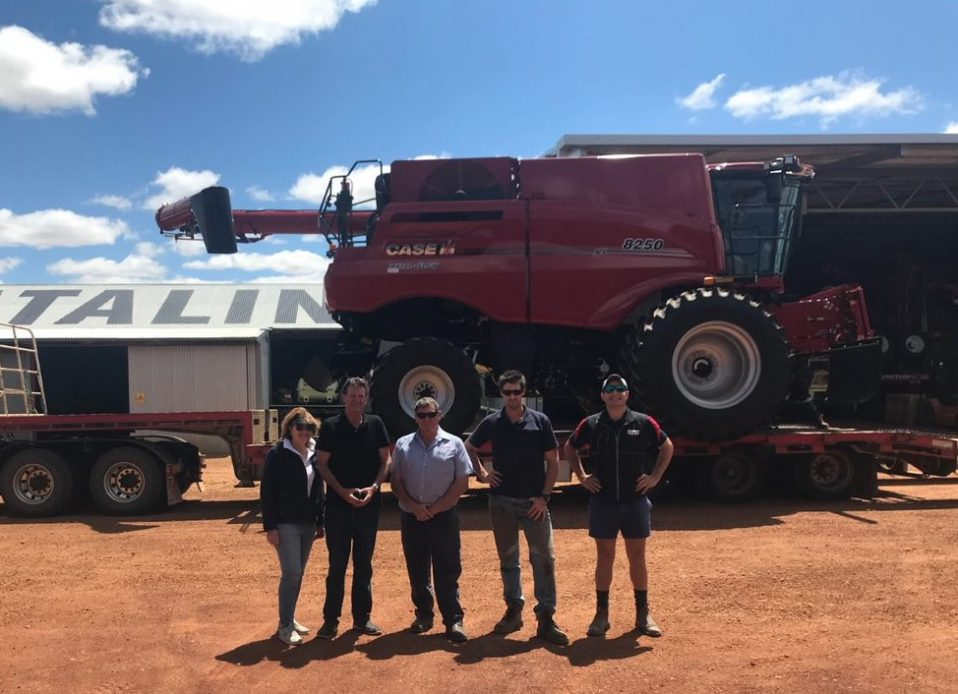 Catalina Farms and their newly purchase Case IH 8250 Combine