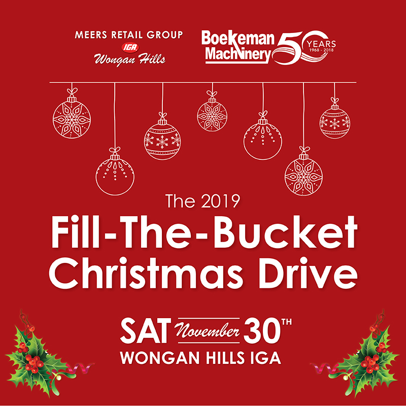 Fill-the-bucket Christmas Drive