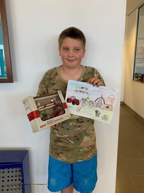 A kid who won the Northams Christmas Colouring 2019