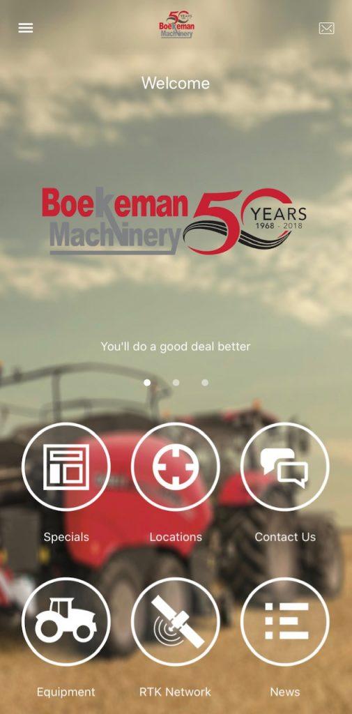 Boekeman machinery app