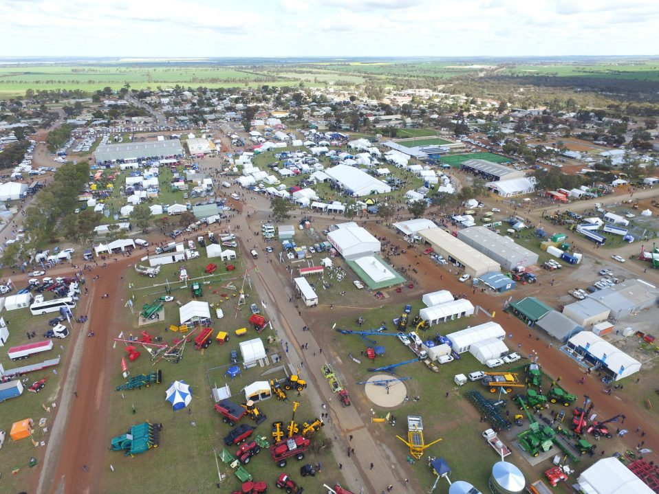 Aerial view of Dowerin Field Days