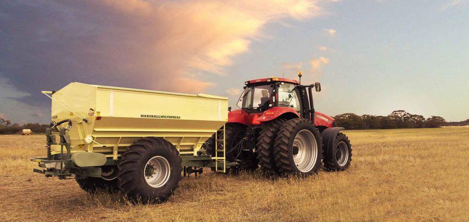A Marshall Multispreader 912T in a field