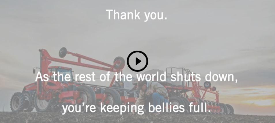 "A screenshot from Boekeman's ""Dear Farmer"" video"