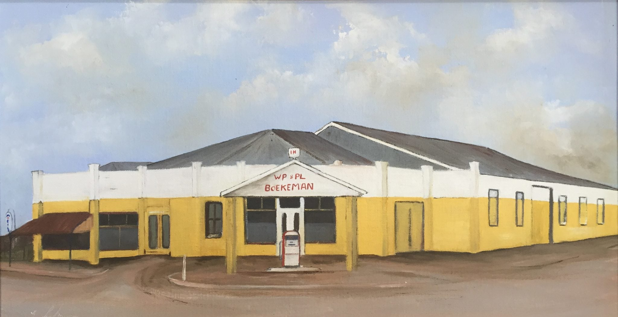 A painting of the first Boekeman Wongan Hills shop