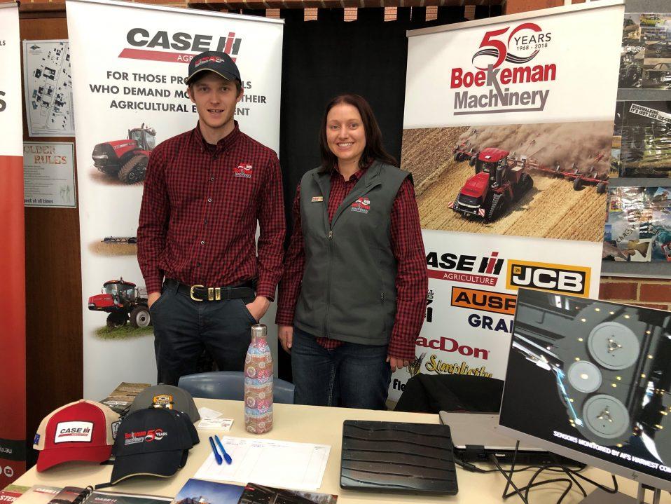 Boekeman Machinery attending the Western Australian College of Agriculture Cunderdin Careers Open Day