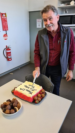 Kevin Dack, Boekeman's Group Parts Manager celebrating his 60th birthday